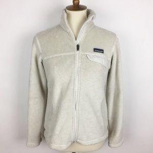 PATAGONIA Full Zip Re-Tool Raw Linen Fleece Jacket